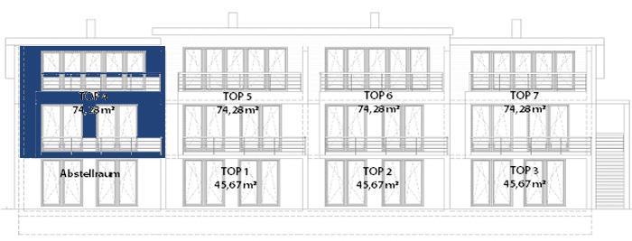 mietwohnung haus c3 top 4 wohnung mieten 4101 feldkirchen an der donau fahrner gmbh. Black Bedroom Furniture Sets. Home Design Ideas