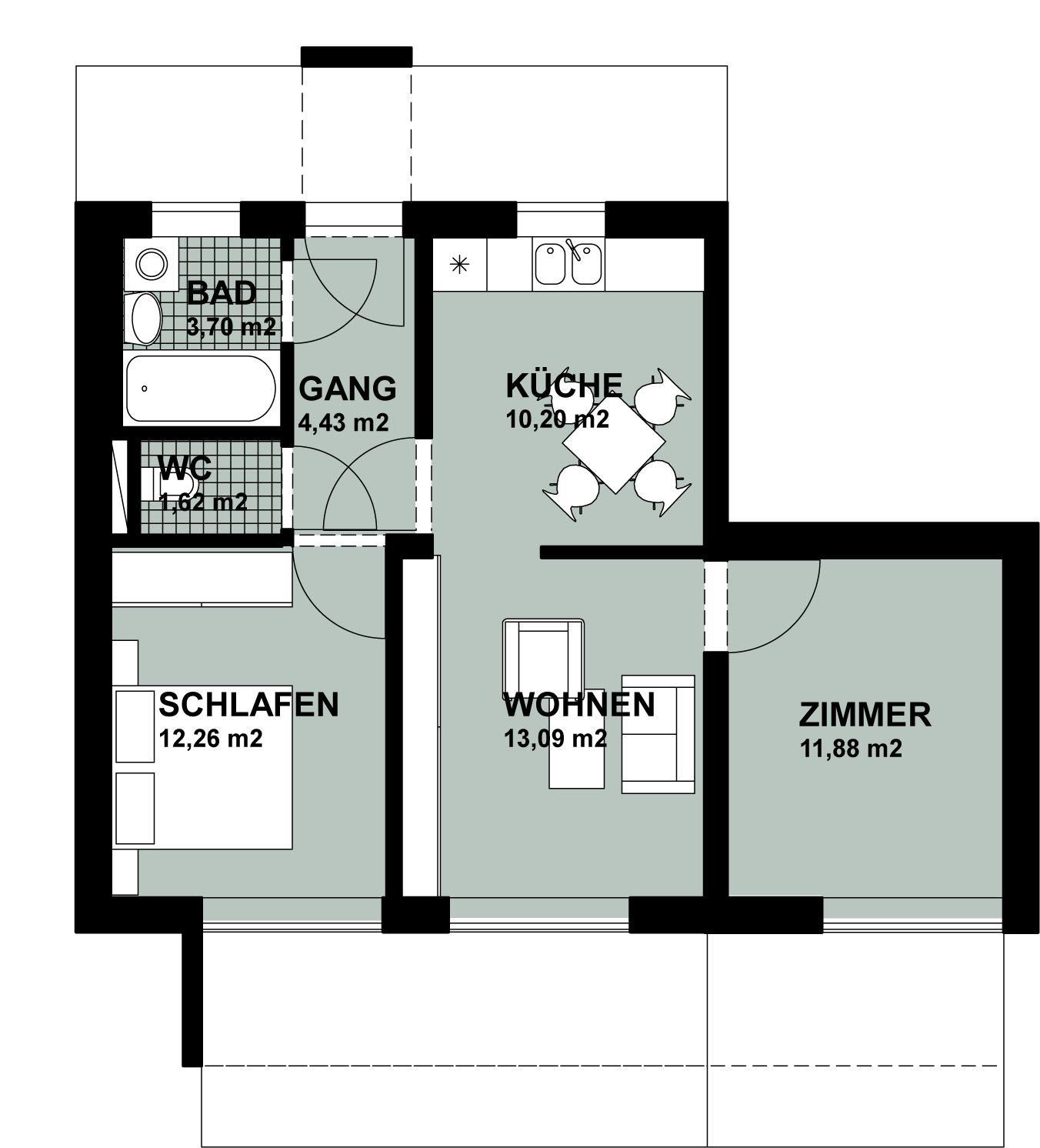 mietwohnung radlerweg top 1 wohnung mieten 4101 feldkirchen an der donau fahrner gmbh. Black Bedroom Furniture Sets. Home Design Ideas