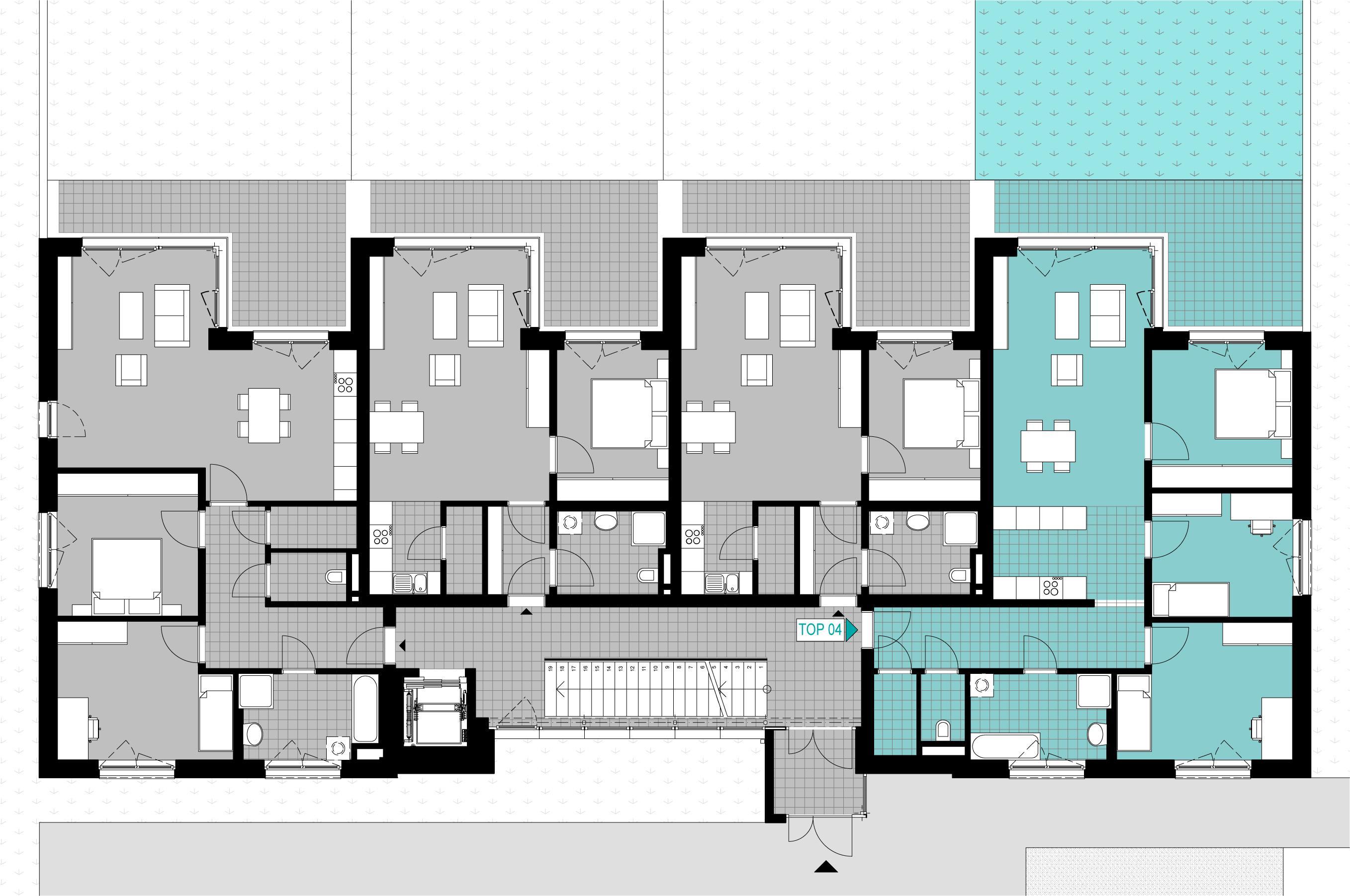 a04 eigentumswohnung mit terrasse und garten wohnung kaufen 4061 pasching linz fahrner gmbh. Black Bedroom Furniture Sets. Home Design Ideas